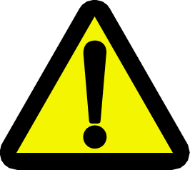 ! warning - caution