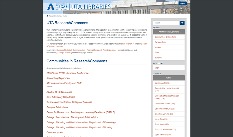 Research Commons website