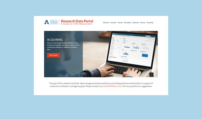 Research Data Portal home page