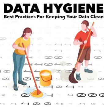Data Hygiene Workshop Best Practices for Keeping Your Data Clean. People cleaning floor that has numbers on it that represent data.