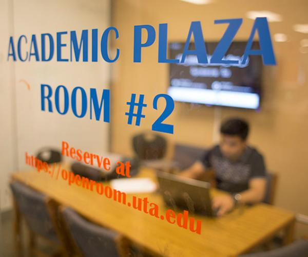group study room in the Academic Plaza