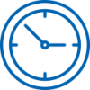 blue outline clock icon